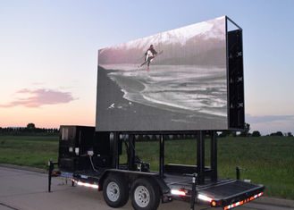 Outdoor Lifting Mobile Led Display Truck , Mobile Video Display 6mm Pixel Pitch